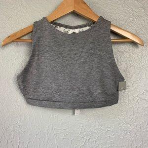 Gap Body Lace Crop Top Bralette Grey / White XS